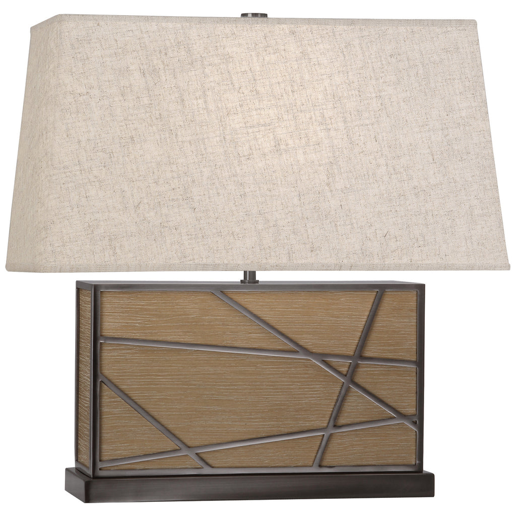 Bond Wide Table Lamp in Various Finishes & Shades design by Michael Berman