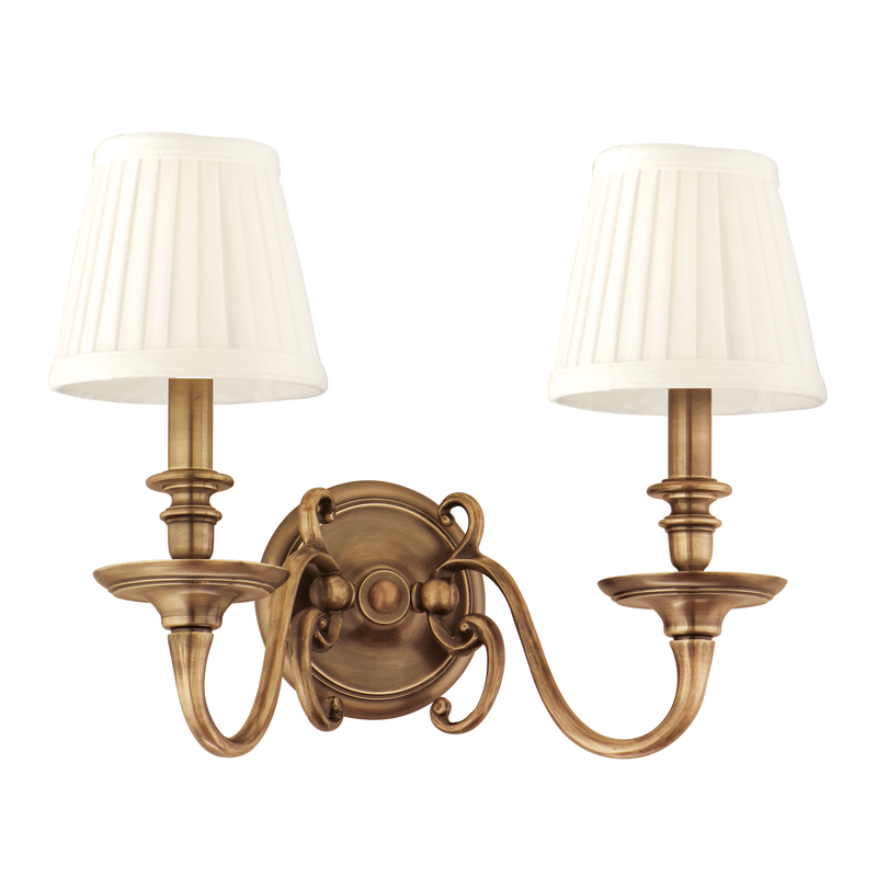 Charleston 2 Light Wall Sconce by Hudson Valley Lighting