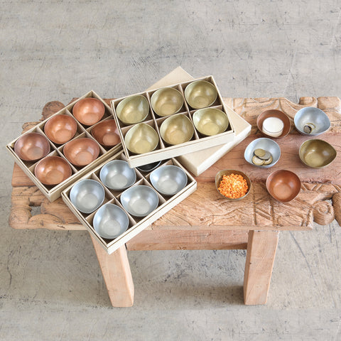 Alma Metal Tealight Holder - Boxed Set of 6 in Various Finishes