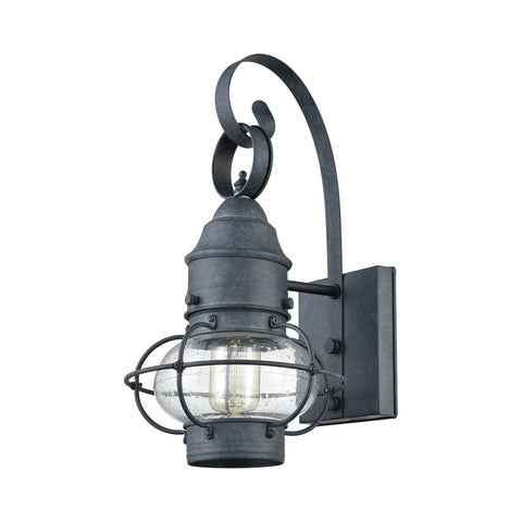 Onion 1 Outdoor Sconce in Aged Zinc