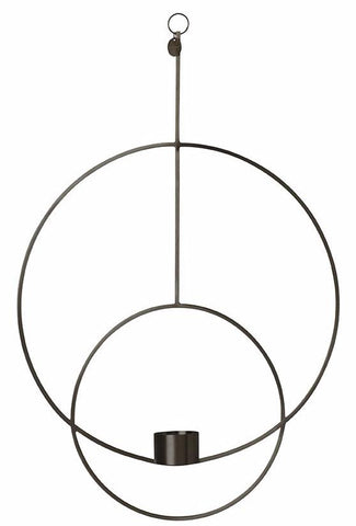 Circular Hanging Tealight Deco in Brass by Ferm Living