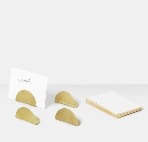 Card Holders in Brass by Ferm Living