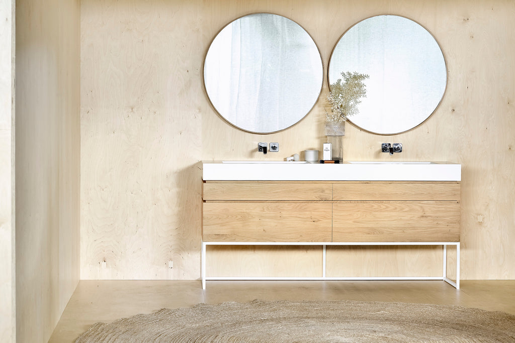 Oak Layers Wall Mirror in Various Sizes