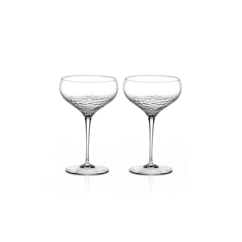 Sequin Champagne Saucer, Pair by Vera Wang