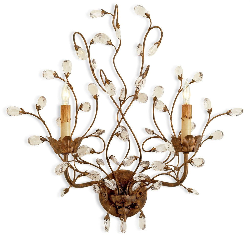Crystal Bud Wall Sconce design by Currey & Company