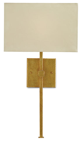 Ashdown Wall Sconce in Antique Gold Leaf design by Currey & Company