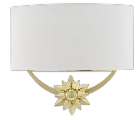 Dayflower Nickel Wall Sconce in Various Colors Alternate Image