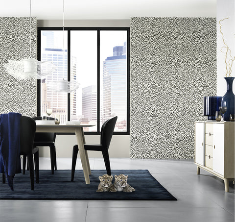 Snow Leopard Print Wallpaper design by BD Wall