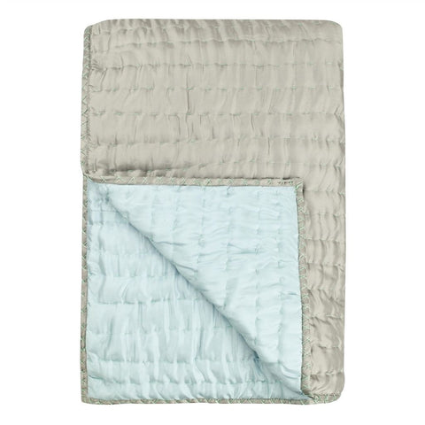 Chenevard Pebble & Duck Egg Reversible Quilt & Pillow Cases design by Designers Guild