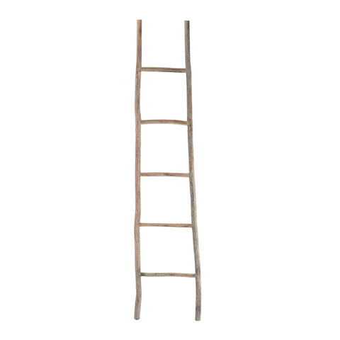 Large Wood White Washed Ladder design by Lazy Susan