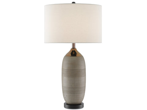 Alexander Table Lamp in Matte and Glossy Gold design by Currey & Company