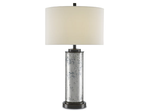 Ariel Table Lamp in Mercury Glass design by Currey & Company