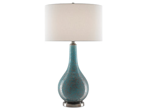 Antiqua Table Lamp in Turquoise design by Currey & Company