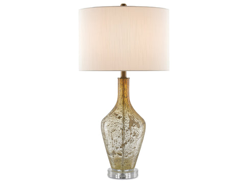 Habib Table Lamp in Champagne Speckled Glass design by Currey & Company