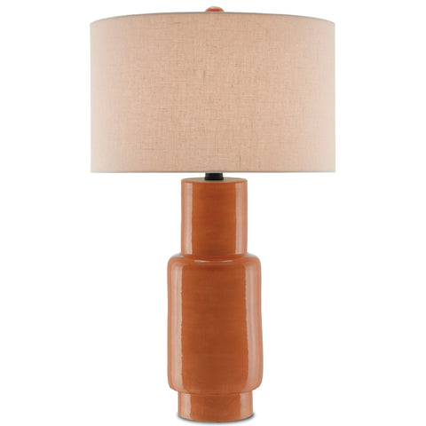 Janeen Table Lamp in Orange design by Currey & Company