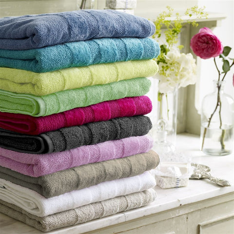 Coniston Charcoal Towels Design By Designers Guild