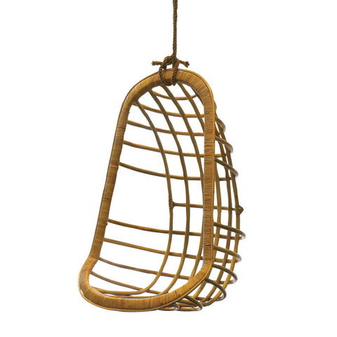 Hanging Rattan Chair design by Twos Company