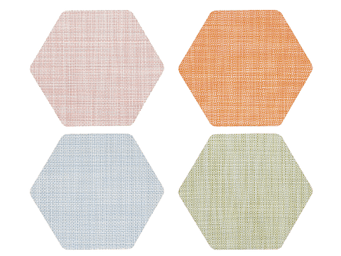 Hex Coaster Set in Multii by Chilewich