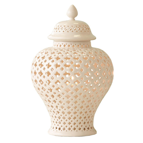 Large Carthage Pierced Covered Lantern design by Twos Company
