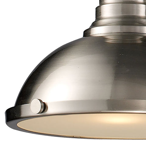 Chadwick 3-Light Island Light in Satin Nickel with Matching Shade by BD Fine Lighting
