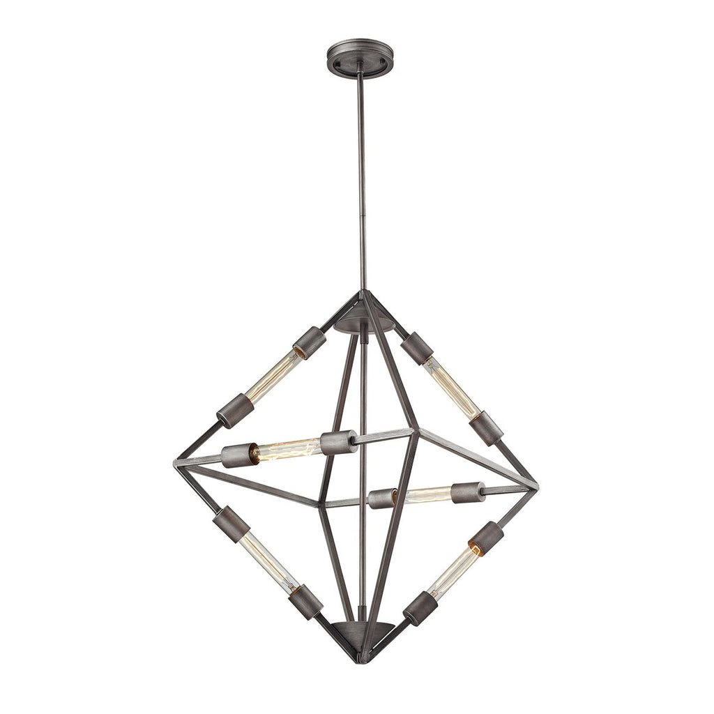 Laboratory 6 Li Pendant in Weathered Zinc design by BD Fine Lighting