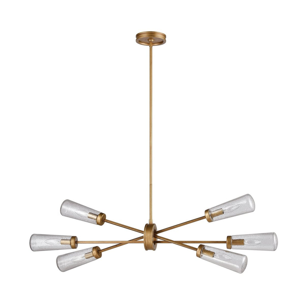 Xenia 6 Billiard/Island Pendant in Matte Gold