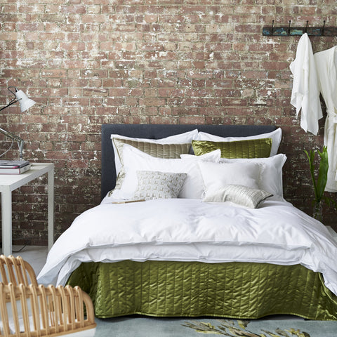 Astor Bianco Bedding design by Designers Guild
