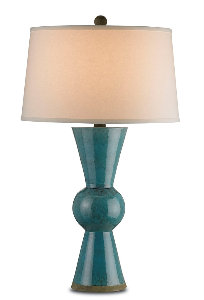 Upbeat Table Lamp in Teal design by Currey & Company