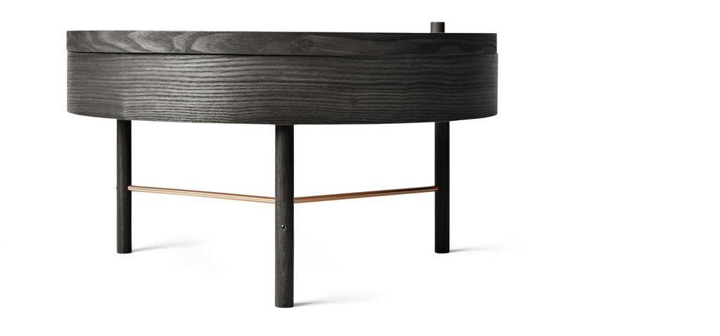 Turning Table in Black Ash design by Menu