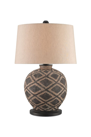 Afrikan Table Lamp design by Currey & Company - BURKE DECOR