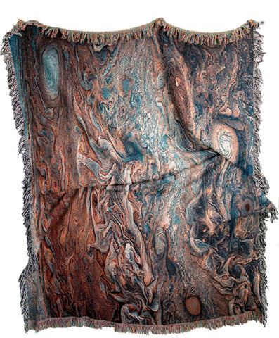 Jupiter Woven Throw Blankets by elise flashman