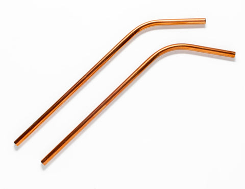 "8"" Stainless Steel Straw in Rose Gold"