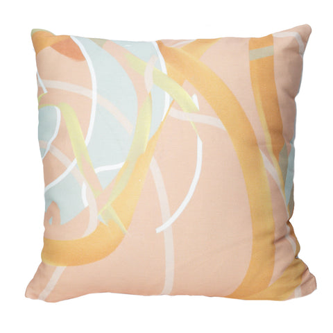 Peach Mint Throw Pillow