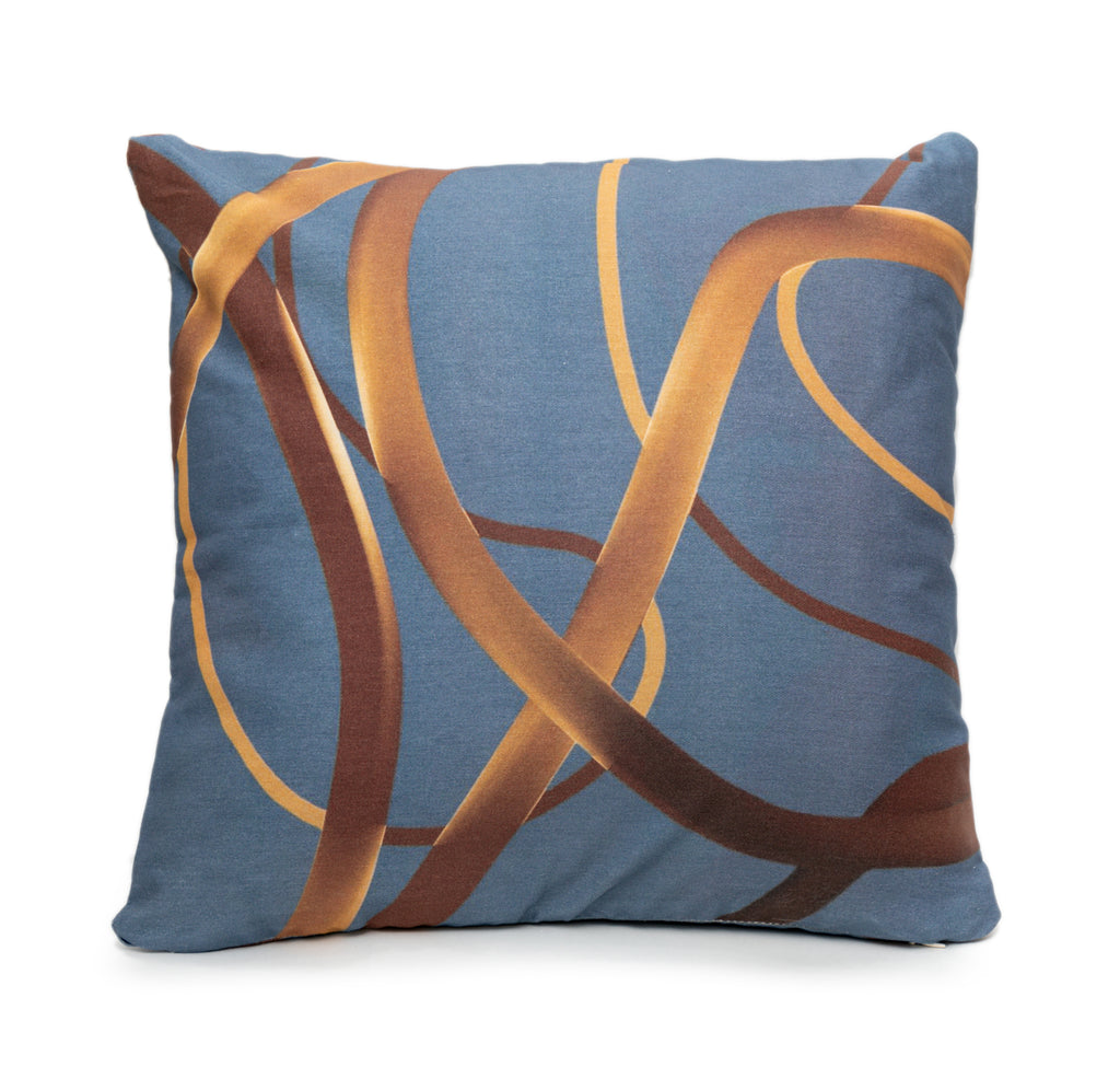 Wander Blue Throw Pillow