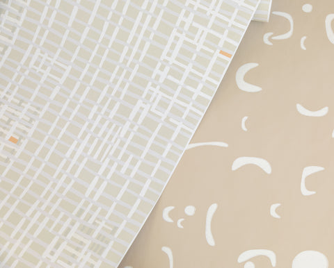 Weave Wallpaper in Light Grey by Hawkins New York