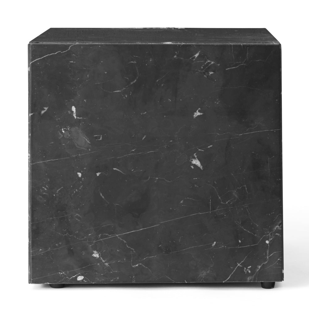 Plinth Table Cubic in Black Marquina Marble design by Menu