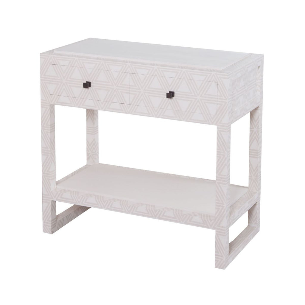 Bedford Fabric Wrapped 2 Drawer Bedside Table design by Lazy Susan