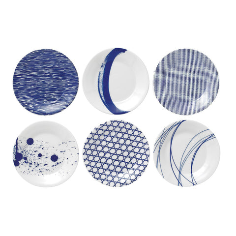 Pacific Blue Tapas Plates (Set of 6)