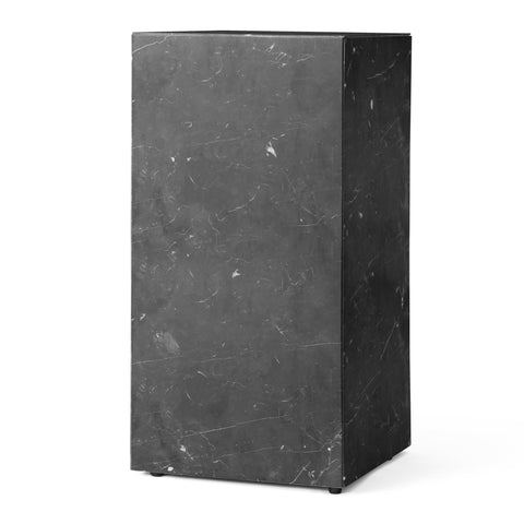 Plinth Table Tall in Black Marquina Marble design by Menu