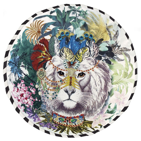 Jungle King Opiat Throw Pillow design by Designers Guild