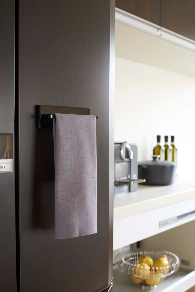 Tower Magnetic Kitchen Towel Hanger in Various Colors by Yamazaki