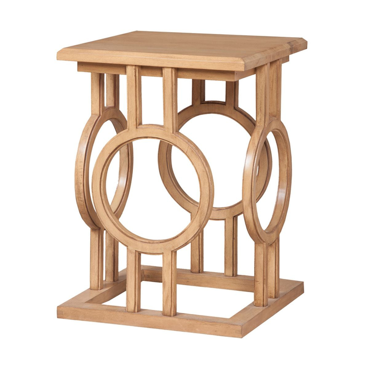 Circle Cut Out Accent Table design by Burke Decor Home