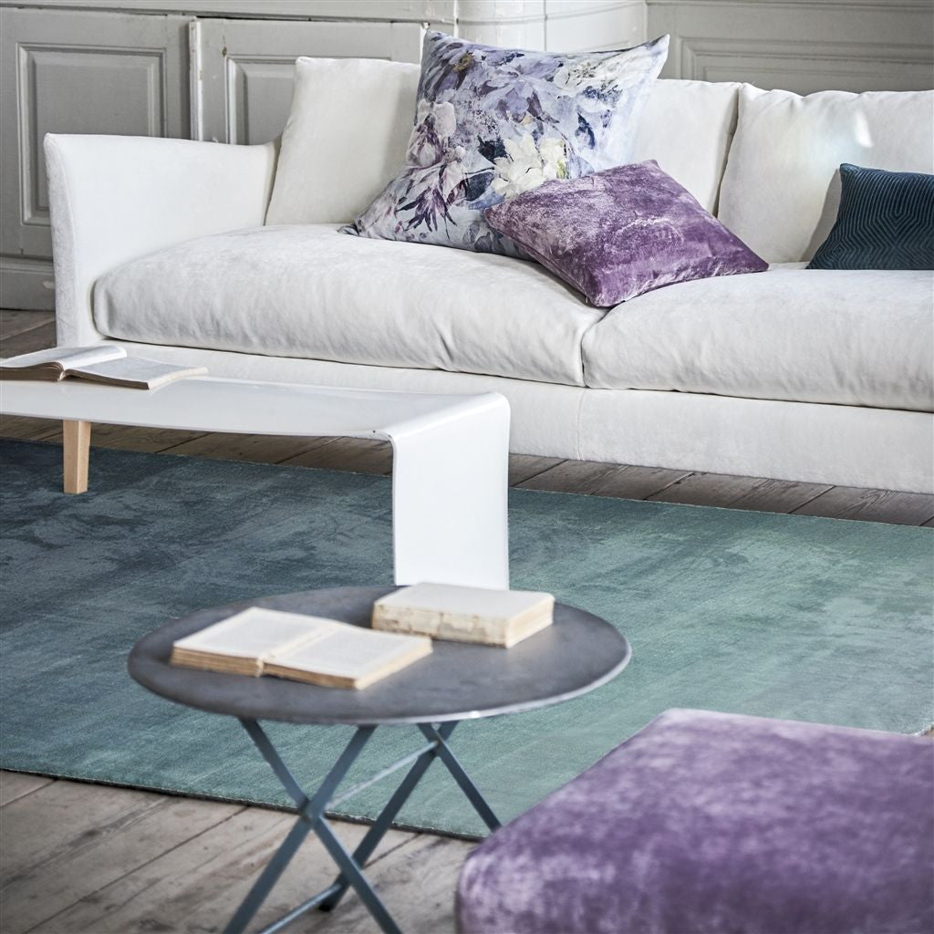 Capisoli Teal Rug design by Designers Guild