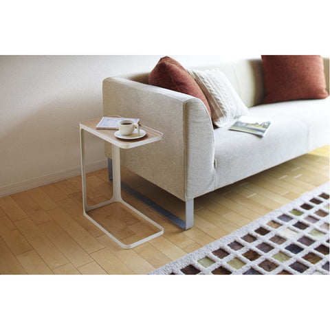 Frame C Shape End Table for Couch by Yamazaki