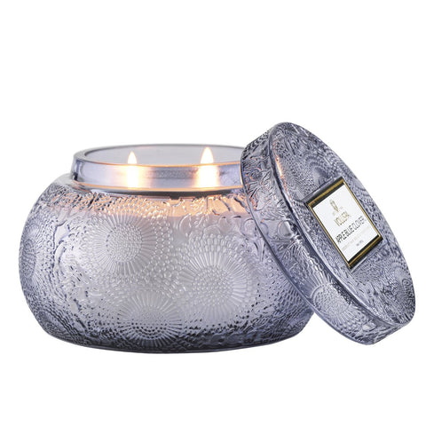 Apple Blue Clover Chawan Bowl Candle