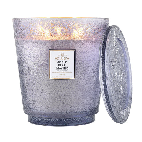 Apple Blue Clover 5 Wick Hearth Candle