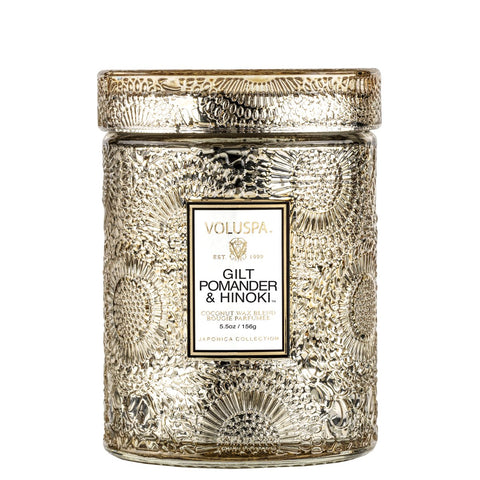 Gilt Pomander & Hinoki Small Jar Candle