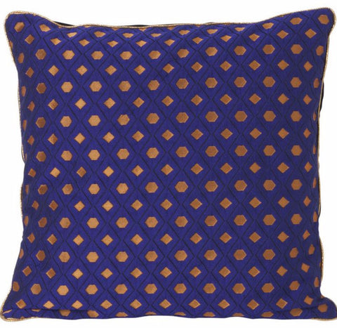 Mosaic Salon Cushion in Blue by Ferm Living