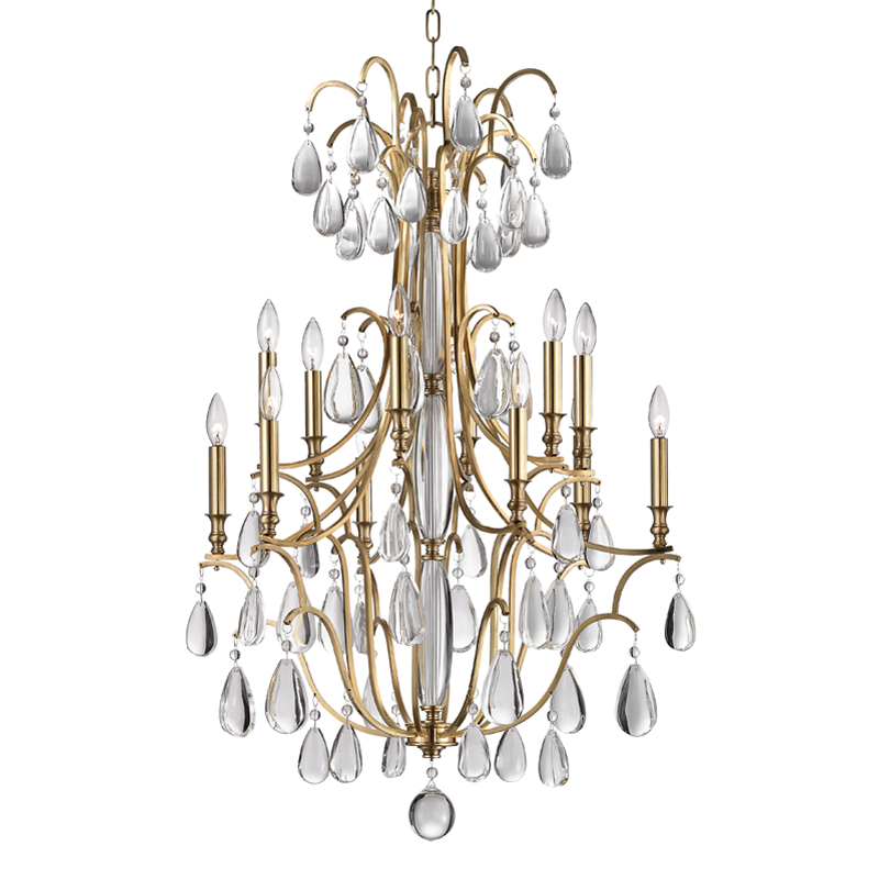 Crawford 12 Light Chandelier by Hudson Valley Lighting