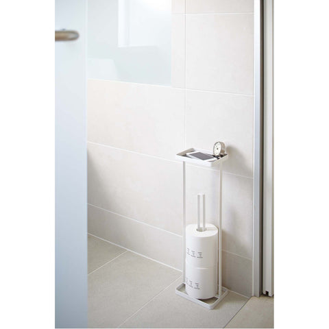 Tower Free Standing Toilet Paper Holder with Tray by Yamazaki